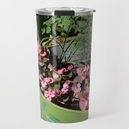 Sun kissed Garden Angel and Begonias Travel Mug