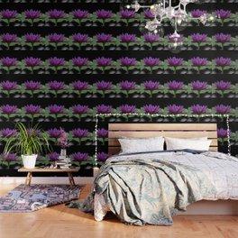 Purple Sacred Lotus Wallpaper