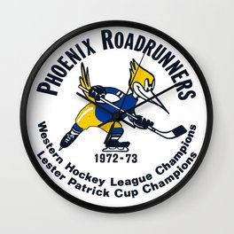 In color Phoenix Roadrunners vintage style Wall Clock
