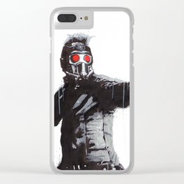 Star-Lord (Peter Quill) Guardians Graffiti Pop Urban Street Art Clear iPhone Case