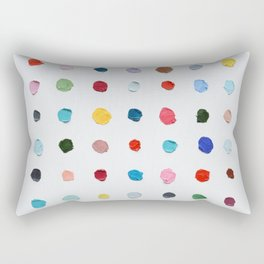 Infinite Polka Daubs Rectangular Pillow