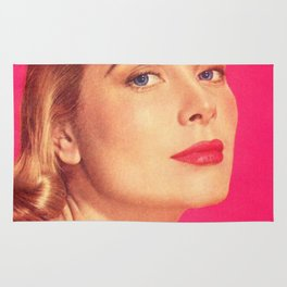 GRACE KELLY - BRIGHT PINK - MODERN SCREEN MAGAZINE Rug