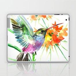 Hummignbird and Flowers Laptop & iPad Skin