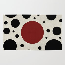 """""""Abstract Japanese Cow"""" Rug"""
