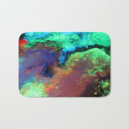 """""""Titan"""" Mixed media on canvas, abstract art painting designs, contemporary artist colorful design Bath Mat"""