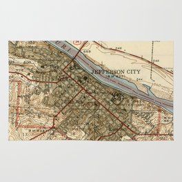 Vintage Map of Jefferson City MO (1939) Rug