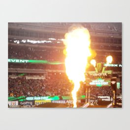 MX Supercross Explosive Fire Canvas Print