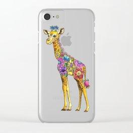 Geraldine the Genuinely Nice Giraffe Clear iPhone Case