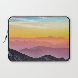 MOUNTAINS - LANDSCAPE - PHOTOGRAPHY - RAINBOW Laptop Sleeve