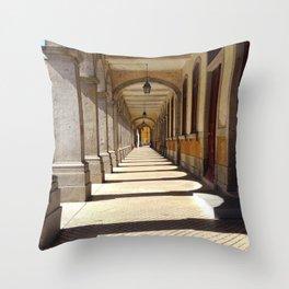 Braga City Center Walkway Throw Pillow