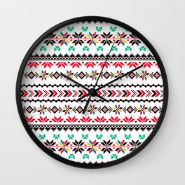 Traditional Embroidery Wall Clock