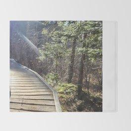 Footbridge to Highpeaks  Throw Blanket