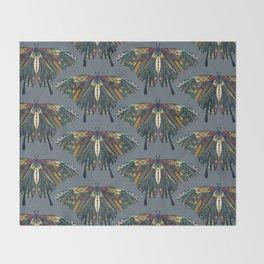 swallowtail butterfly indigo Throw Blanket