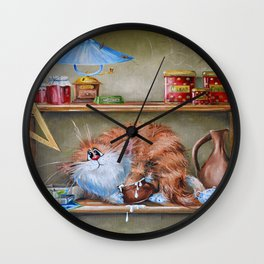 Caught on the hot Wall Clock