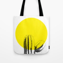 Sunset Minimal Cactus Tote Bag
