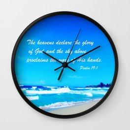 Psalm 19 Wall Clock
