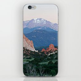 Sunrise at Garden of the Gods and Pikes Peak iPhone Skin