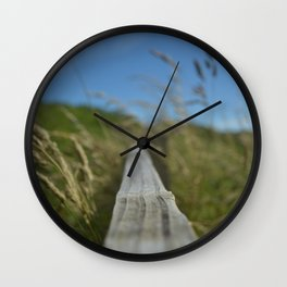 Wind and Grasses Wall Clock