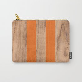Wood Grain Stripes - Orange #840 Carry-All Pouch