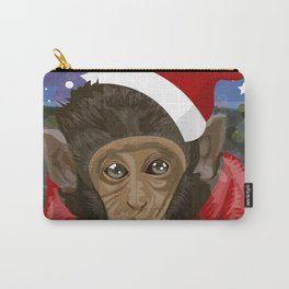 Christmas monkey Carry-All Pouch