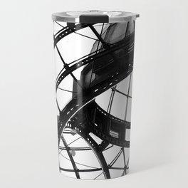 B&W Domed Roof Travel Mug