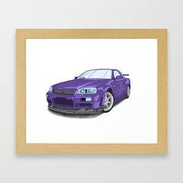 Nissan skyline r34 Framed Art Print