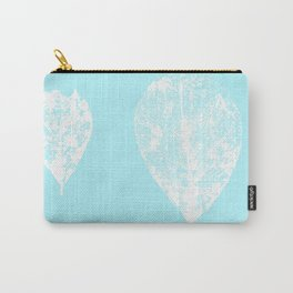 Skeleton leaves aqua pastel Carry-All Pouch