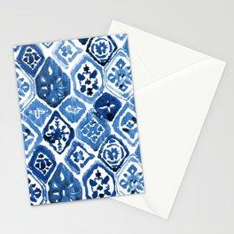 Arabesque tile art Stationery Cards
