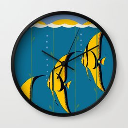 Great Barrier Reef Australia travel advertising Wall Clock
