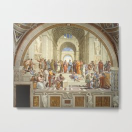 Raphael - The School of Athens Metal Print
