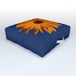 Orange power flower Outdoor Floor Cushion
