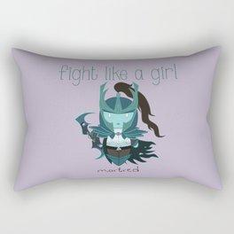 Fight Like a Girl - Dota's Phantom Assassin Rectangular Pillow