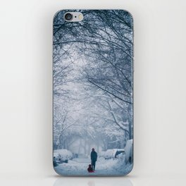 Blizzard in the City iPhone Skin