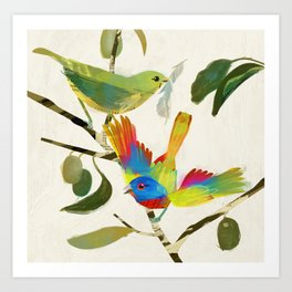 Painted Buntings Art Print
