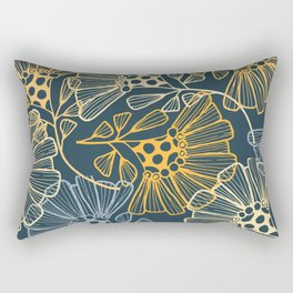 Hawaiian Garden Party - Tropical Flowers Rectangular Pillow