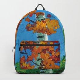 Poplars in autumn Backpack