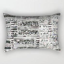 My Friend, Surveillance (P/D3 Glitch Collage Studies) Rectangular Pillow