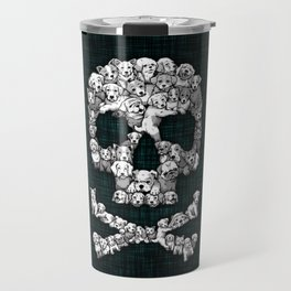 Skull Dogs Halloween Travel Mug