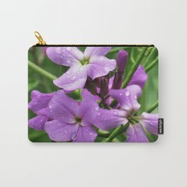 Purple and Green Carry-All Pouch