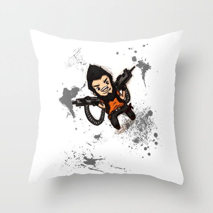 Borderlands 2 - Chibi Gunzy! Throw Pillow