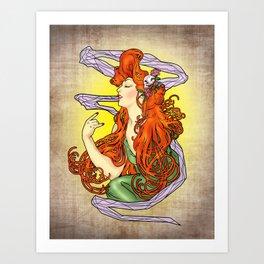 Lady Mucha Art Print