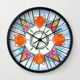 Circle of Foxes Wall Clock