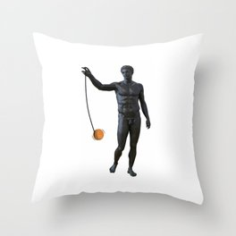 Playing with my Yo Yo Throw Pillow