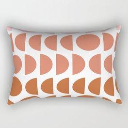 Terracotta and Blush Shapes Rectangular Pillow