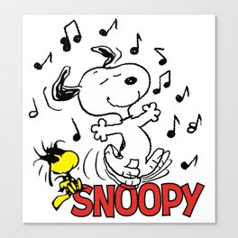 snoopy sing Canvas Print