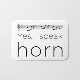 I speak horn Bath Mat