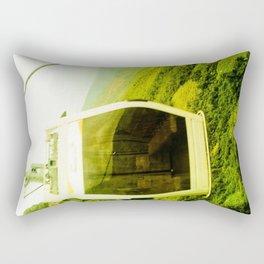 Cableway santandereano in green. Rectangular Pillow