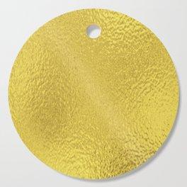 Simply Metallic in Yellow Gold Cutting Board