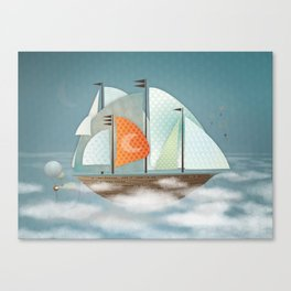 Sailing on clouds Canvas Print
