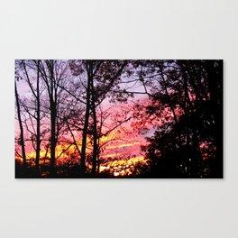 A Sherbert Sunset Canvas Print